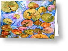 Lily Pad Time Greeting Card