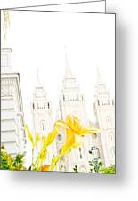 Lily Temple Funky Greeting Card