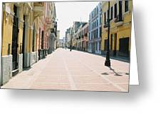 Lima Market Greeting Card