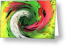 Lime And Red Greeting Card
