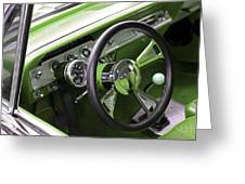 Lime Chevy Impala  Greeting Card