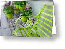 Lime Green Greeting Card by Cindy Wright