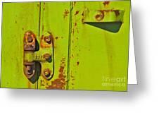 Lime Hinge Greeting Card