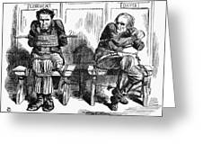 Lincoln Cartoon, 1864 Greeting Card