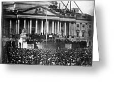 Lincoln Inauguration, 1861 Greeting Card by Chicago Historical Society