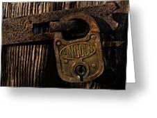 Lincoln Lock Greeting Card