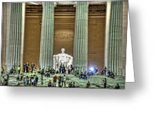 Lincoln Memorial Steps Greeting Card