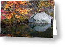 Lincoln Woods Autumn Boulders Greeting Card
