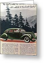 Lincoln Zephyr 1936 Greeting Card