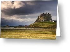 Lindisfarne Castle, Beblowe Crag Greeting Card