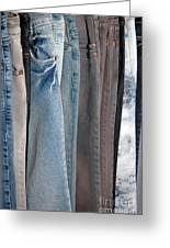 Line Of Jeans Greeting Card