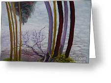 Lines In Nature Greeting Card