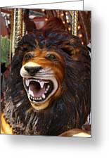 Lion Merry Go Round Animal Greeting Card