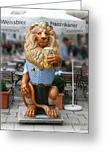Lion Of Beer Greeting Card