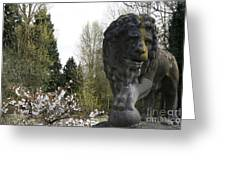 Lion Sculpture Greeting Card
