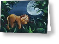 Lion Sleeps Tonight Greeting Card