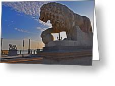 Lions Gate Bridge Greeting Card by Peter  McIntosh