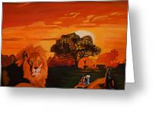 Lions Love Life Greeting Card