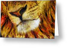 Lion's Mouth Greeting Card