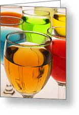 Liquor Glasses Greeting Card