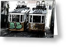 Lisbon Tram Greeting Card by Gabriel Calahorra