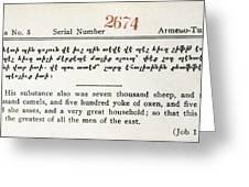 Literacy Test C1917 Greeting Card
