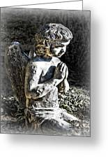 Little Angel Statue Greeting Card