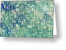 Little Blue Diamonds Greeting Card
