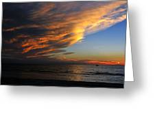 Little Boat Sunset Greeting Card