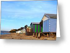 Little Boatsheds In A Row Greeting Card