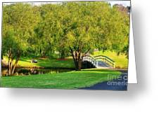 Little Bridge Over The River Greeting Card