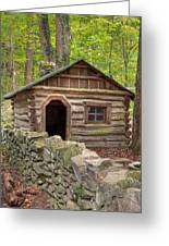 Little Cabin On Little River Greeting Card by Charles Warren