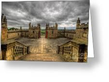 Little Castle Entrance - Bolsover Castle Greeting Card