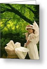 Little Girl Yesteryear Greeting Card