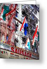 Little Italy In Color Greeting Card