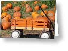 Little Orange Wagon Greeting Card