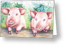 Little Piggies Greeting Card