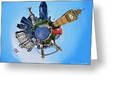 Little Planet - London Greeting Card