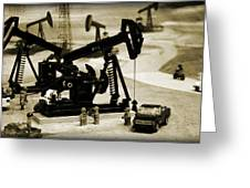 Little Pumpjacks Greeting Card by Ricky Barnard