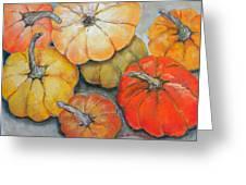 Little Pumpkins Greeting Card by Hilda Vandergriff