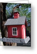 Little Red Birdhouse Greeting Card
