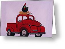 Little Red Coop Greeting Card