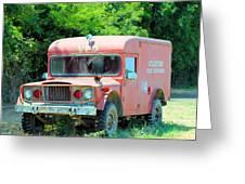 Little Red Firetruck Greeting Card