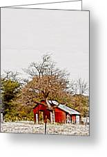 Little Red Shanty - No. 351 Greeting Card
