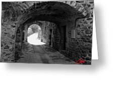 Little Street La Roche Alba Ardeche France Greeting Card