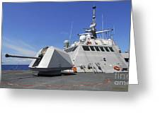 Littoral Combat Ship Uss Freedom Greeting Card by Stocktrek Images