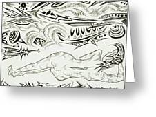 Live Nude Female No. 34 Greeting Card