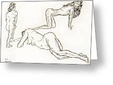 Live Nude Female No. 37 Greeting Card