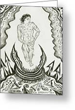 Live Nude Male No. 27 Greeting Card