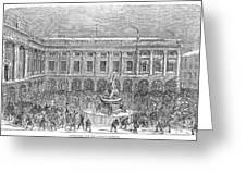 Liverpool Exchange, 1854 Greeting Card